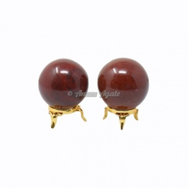 Red Jasper Ball Sphere with Stand