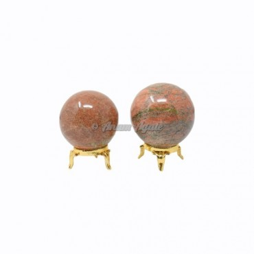 Unakite Ball Sphere with Stand