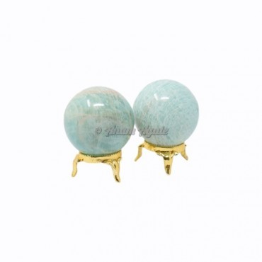 Amazonite Ball Sphere with Stand