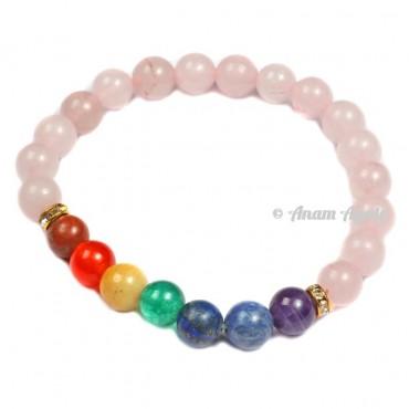Rose Quartz Chakra Bracelets