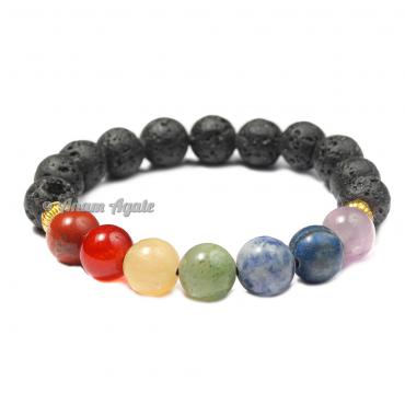 Lava Stones Chakra Bracelets