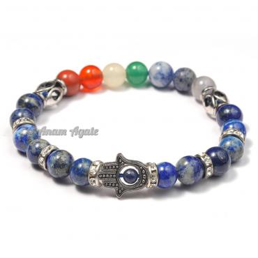 Lapiz Lazuli|Hamsa Evil Eye Chakra Bracelets