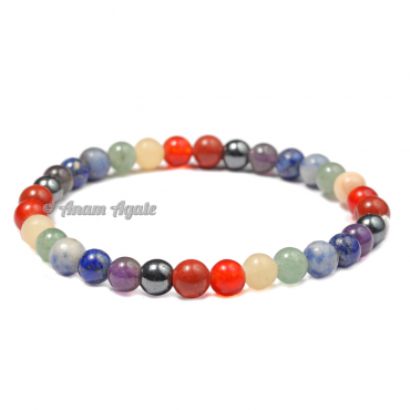 Seven Chakra Bracelet with 6mm Beads