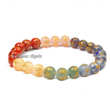 Engraved Symbols Chakra Healing Bracelets