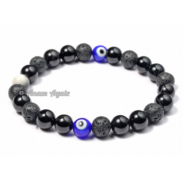 Chakra Bracelets with 2 Evil Eye Beads