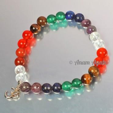 Chakra Bracelets with Om Charm