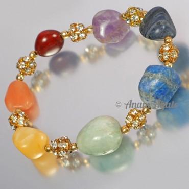 Chakra Tumbled Beads Bracelets