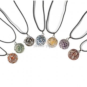 Chakra Symbol Pendants Set