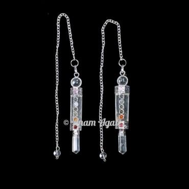 Crystal Quartz chakra 3pcs Pendulums