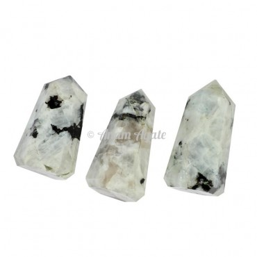 Rainbow Moonstone Obelisk Points