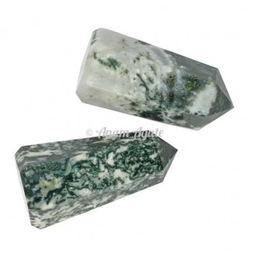 Tree Agate Obelisk Points