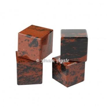 Mahagoni Obsidian Cubes