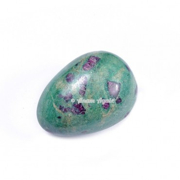 Ruby Fuchsite Gemstone Egg