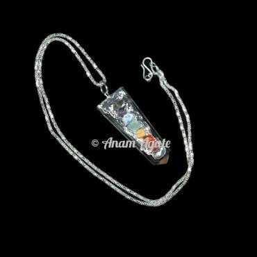 Crystal Quartz chakra Flat Electro Pendants