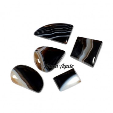 Banded Agate Gemstone Cabochons