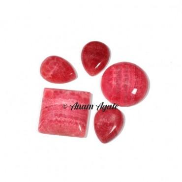 Rhodochrosite Gemstone Cabochons