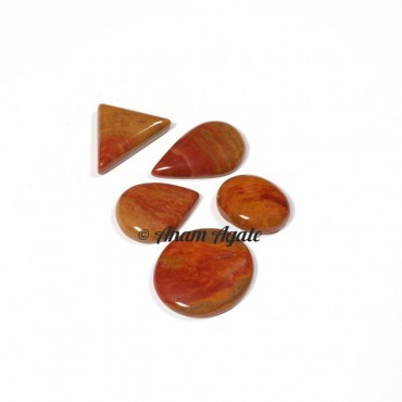 Red Jasper Gemstone Cabochons