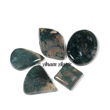 Moss Agate Gemstone Cabochons