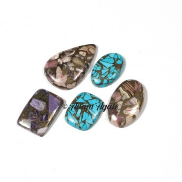 Mix Copper Gemstone Cabochons