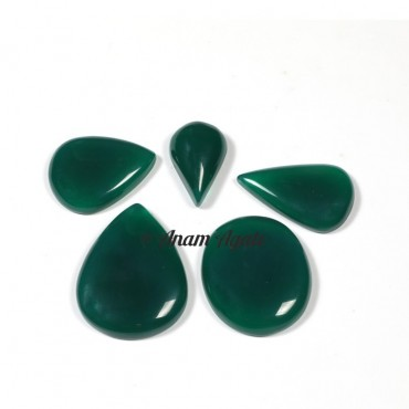 Green Onyx Gemstone Cabochons