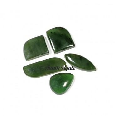 Nephrite-Z Gemstone cabochons