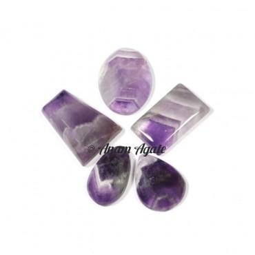 Banded Amethyst Gemstone cabochons