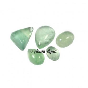 Green Flourite Gemstone cabochons