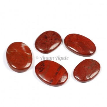 Red Jasper Oval Gemstone Cabochons