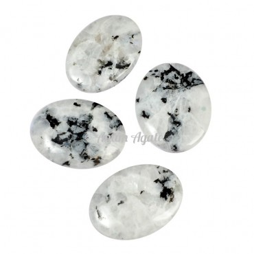 Rainbow Moonstone Gemstone Cabochons