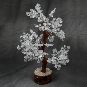 Crystal Quartz Mseal 300 Chips  Silver Wire Tree