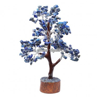 Lapis Lazuli Mseal 300 Chips  Silver Wire Tree