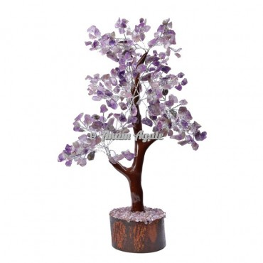 Amethyst Mseal 300 Chips  Silver Wire Tree