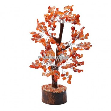 Carnelian Mseal 300 Chips  Silver Wire Tree