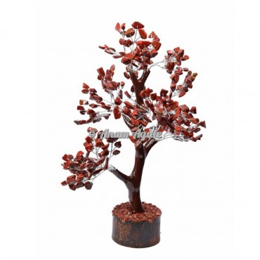 Red Jasper Mseal 300 Chips  Silver Wire Tree