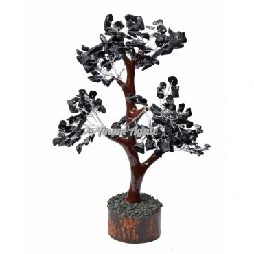 Black Jasper Mseal 300 Chips  Silver Wire Tree