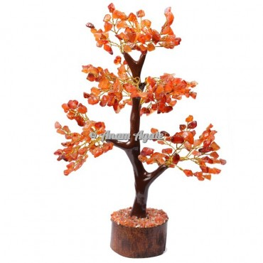Carnelian Mseal 300 Chips  Golden Wire Tree