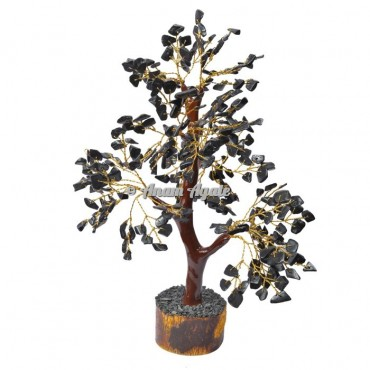 Black Jasper Mseal 300 Chips  Golden Wire Tree