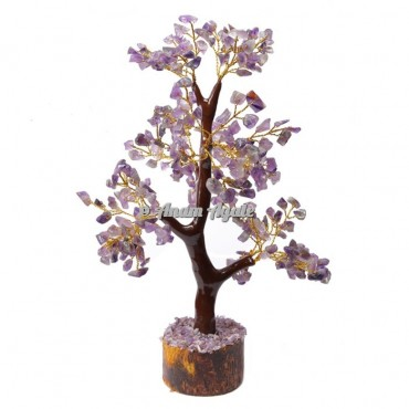 Amethyst Mseal 300 Chips  Golden Wire Tree