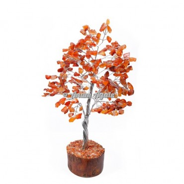 Carnelian 300 Chips Silver Wire Tree