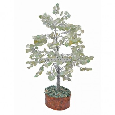 Green Aventurine 300 Chips Silver Wire Tree