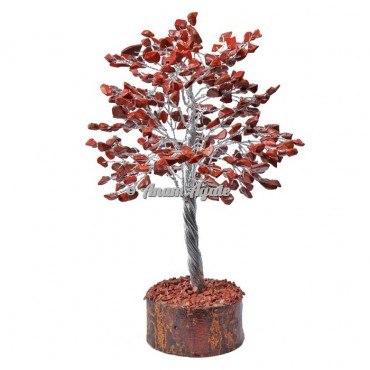 Red Jasper 300 Chips Silver Wire Tree