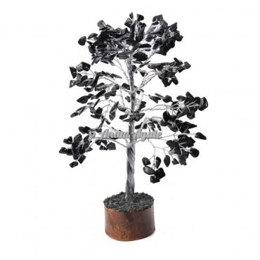 Black Japser 300 Chips Silver Wire Tree