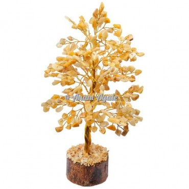 Golden Quartz 300 Chips Golden Wire Tree