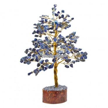 Lapis Lazuli  300 Chips Golden Wire Tree