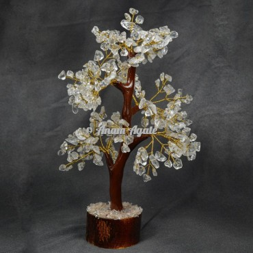 crystal quartz Mseal 300 chips Golden wire  Tree