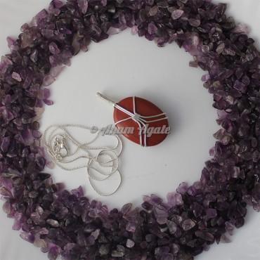 Red Jasper Wire Wrap Gemstone Pendant