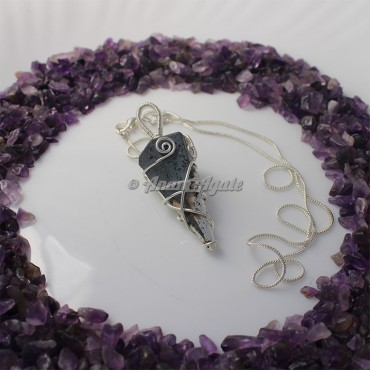 Pyrite Wire Wrap Gemstone Pendant