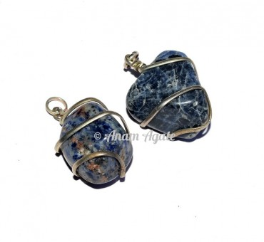 Sodalite Tumbled Pendants