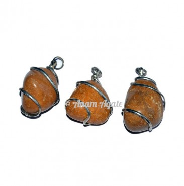 Yellow Jasper Tumbled Pendants