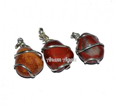 Jasper Tumbled Pendants